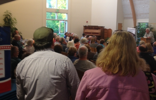 Standing room only at St. Nick's Church, June 3, 2014.  (Photo courtesy Pamm Rovner.)