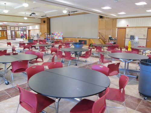 The cafeteria/auditorium